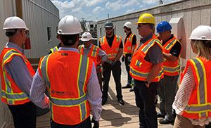 IFMA members enjoy hard hat tour