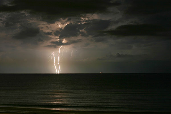 Lightning in the Gulf